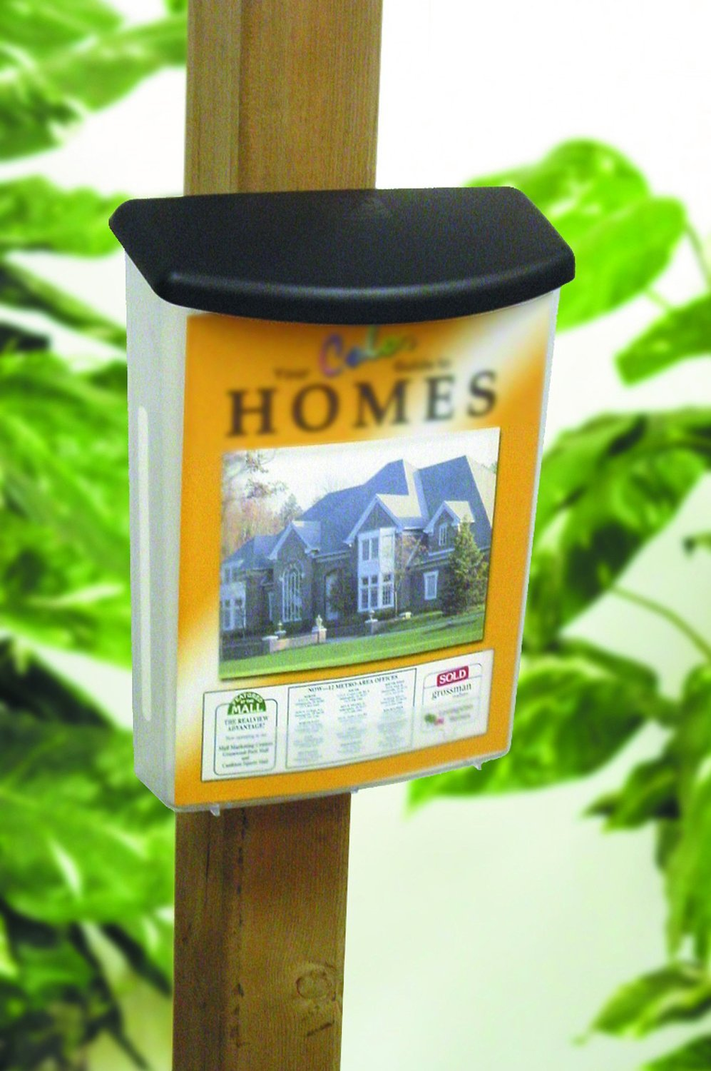 Source One Premium Large Outdoor Realtor Style Brochure Holder (S1-ODBH-BLK LID)