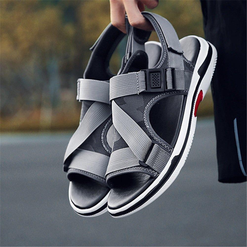 Wangcui Sandalen Herren Atmungsaktive Sommer Casual Comfort Sandalen Atmungsaktive Herren Schwarze Schuhe (Farbe : Grau, Größe : 39 1/3 EU) Grau a202c7