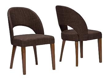Amazon.com: Baxton Studio Lucas mid-century estilo silla de ...