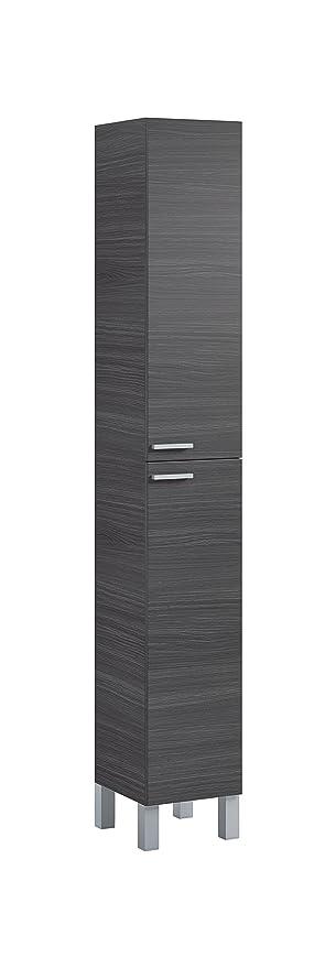 Koncept Tall Bathroom Cupboard Ash Grey By Furniture Factor