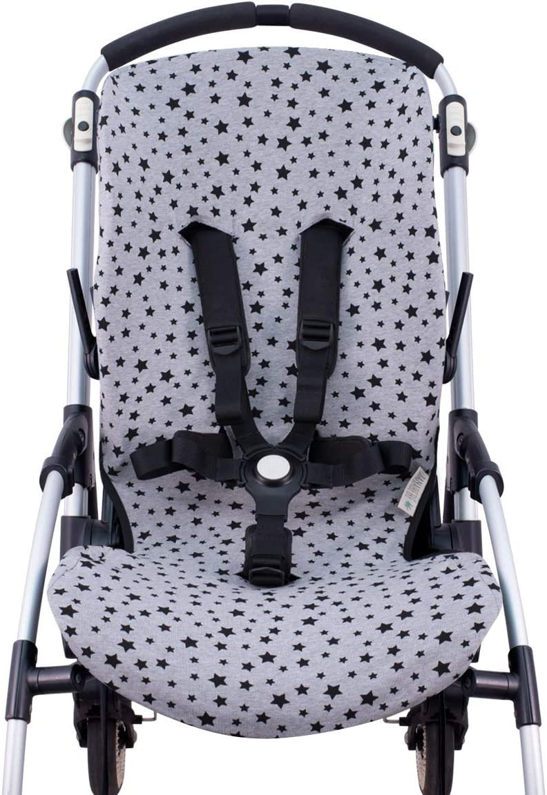 JANABEBE Funda para Bugaboo Bee 3, Bee plus, Bee 5 (Black Star ...