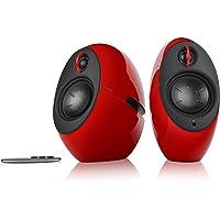 EDIFIER Luna Eclipse - Kit d'enceintes Design 2.0 Bluetooth avec Télécommande IR Rouge 74 W