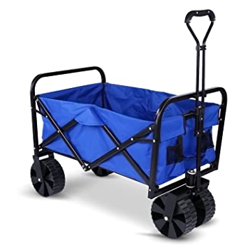 Meditool Carretillas de jardín, Carro de mano, Carro plegable, Carro de playa, Carrito de transporte, Paño de Oxford impermeable, Carga 70kg: Amazon.es: ...