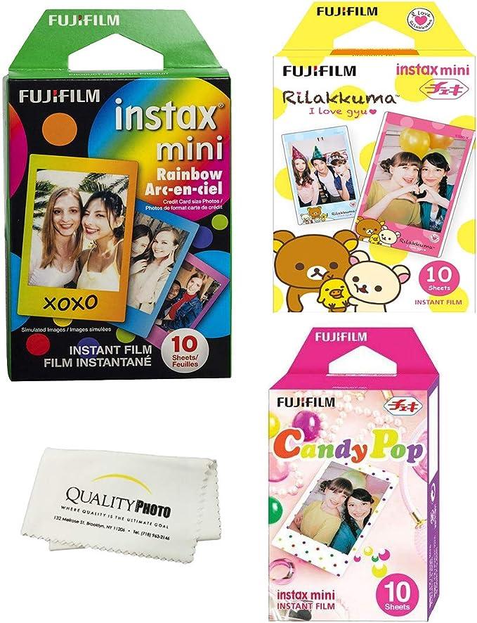 Fujifilm INSTAX Mini Instant Film 3 Pack 30 hojas (estilos de ...
