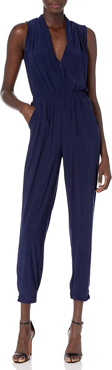 Laundry by Shelli Segal Women's Matte Jersey Athleisure Jumpsuit