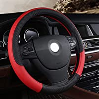 GTXFSO Leopard Gray Plush Steering Wheel Cover Universal 15 inch Trendy and Fashionable Steering Wheel Cover for Women Lady