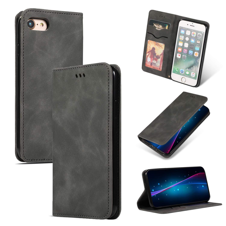 Magnetica Flip Wallet Case MAOOY Custodia per iPhone 8 con Interno ...