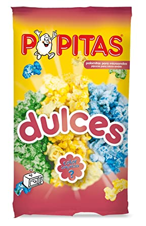 Popitas - Palomitas Dulces De Colores Para Microondas. Bolsa 100 g