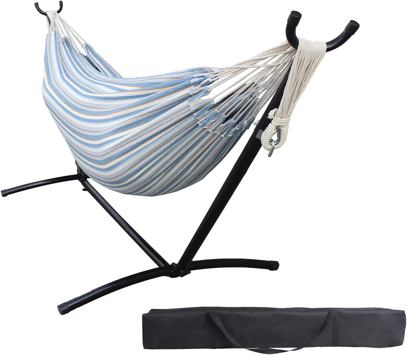 Duck Covers Weekend 82 Inch Mesh One-Person Travel Hammock, Blue Shadow