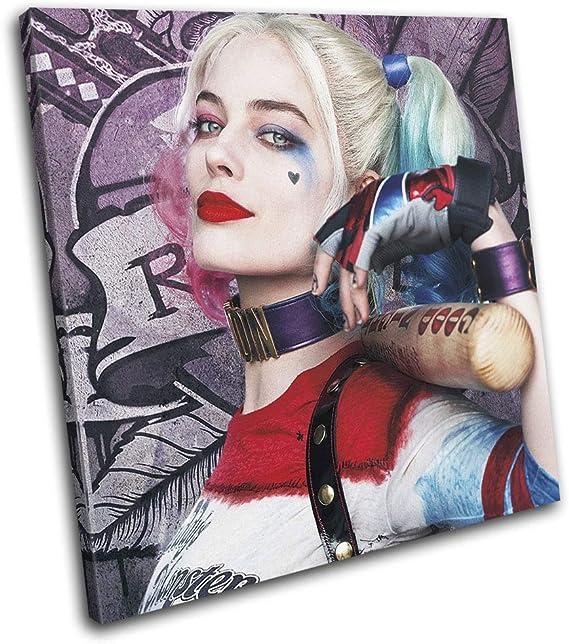 Bold Bloc Design - Suicide Squad Harley Quinn Movie Greats 60x60cm Single Caja de Lamina de Arte Lienzo Enmarcado Foto del Colgante de Pared Listo para Colgar Canvas Print RC-2392(00B)-SG11-LO-B: Amazon.es: Hogar