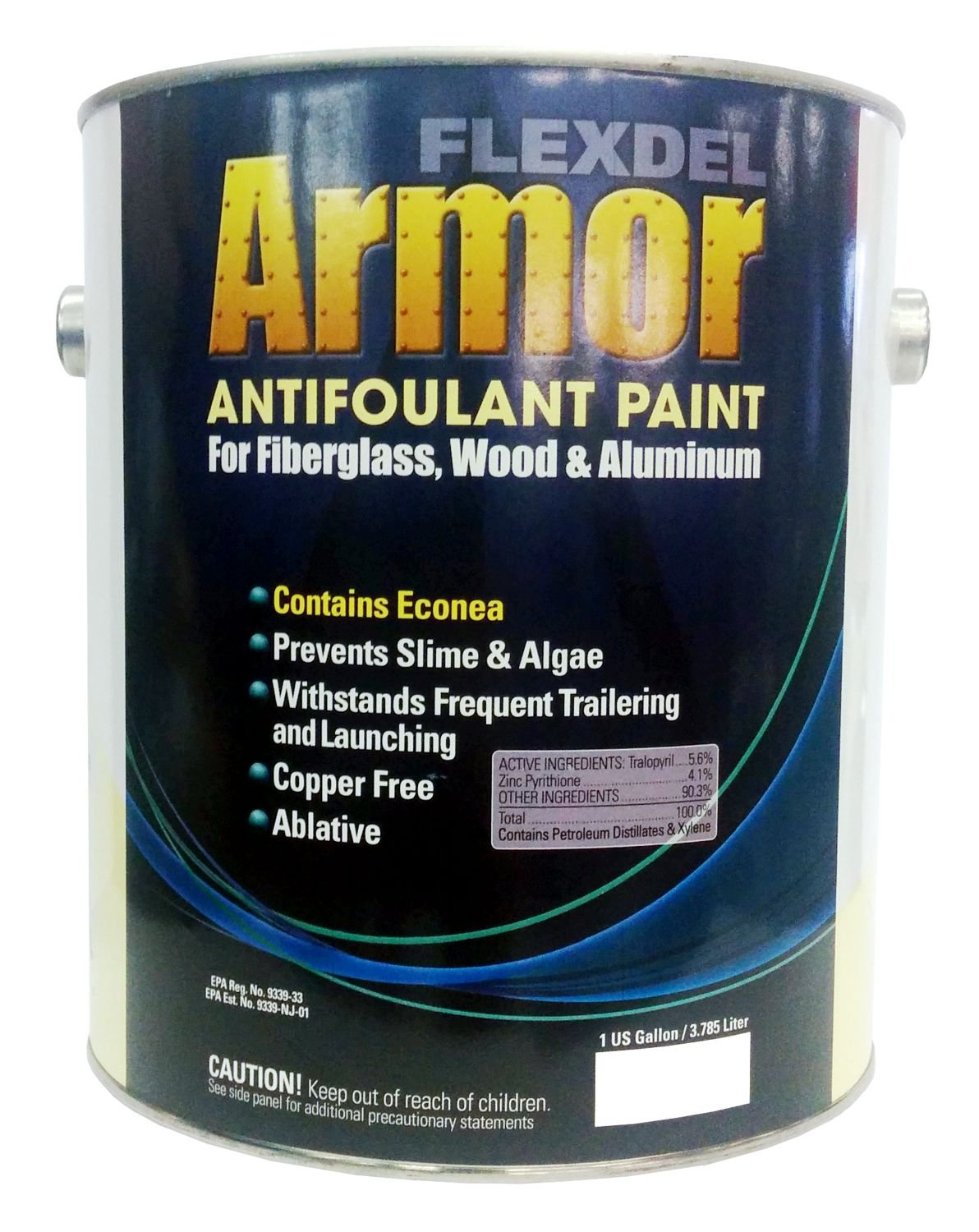 FLEXDEL CORPORATION Flexdel Armor Copper-Free Antifouling Bottom Paint  (Blue, Gallon) 13103