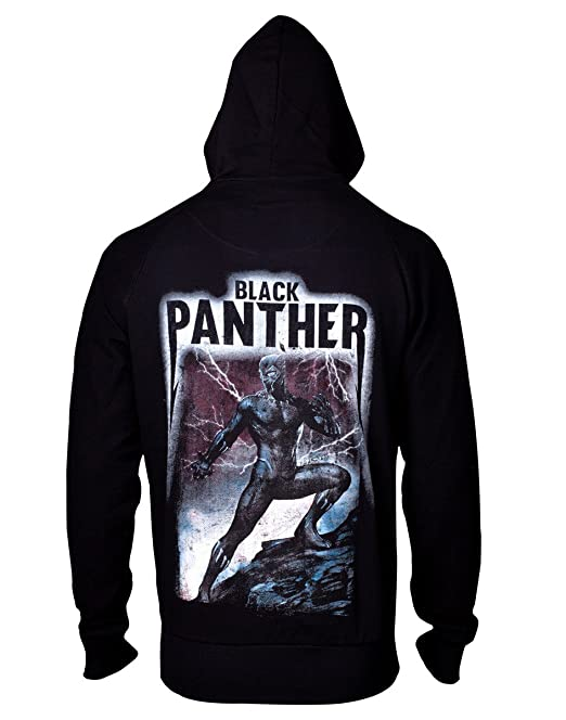 0f98a0a92ef Official Marvel Avengers Black Panther Logo Zip-up Hoodie Sweater - Unisex
