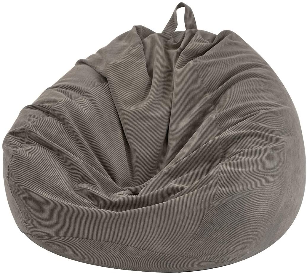 """Bean Bag Cover Blue Gray Beige Covers 17/"""" NEW Corduroy Company Store"""
