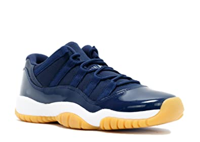 NIKE Air Jordan Retro 11 XI Low Midnight Navy Gum 528896-405 4Y-7Y