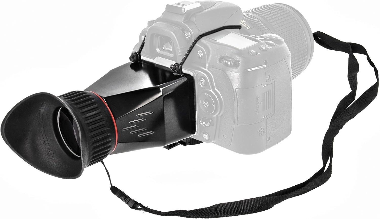 MK-VF100-E con capucha lupa 3 x para todo tipo de cámaras réflex ...
