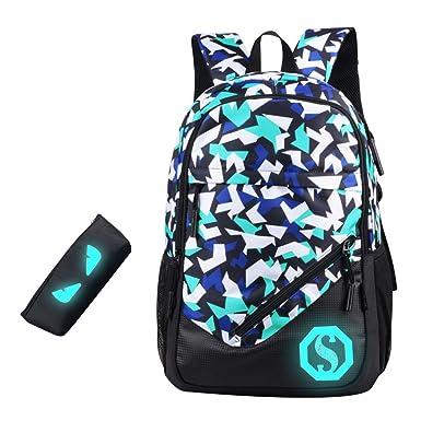 Amazon.com | JiaYou Boy 20L Fashion School Bag Backpack with ...