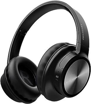 Letscom Auriculares inalámbricos con Bluetooth y micrófono de alta fidelidad, 45 horas de reproducción para viajes, trabajo, TV, PC, teléfono móvil