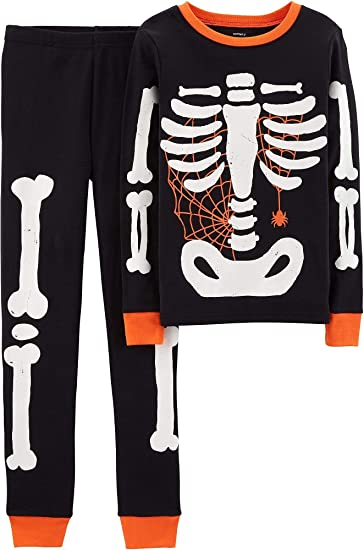 eb3a4264c Carter's Baby Boy Girl Halloween Glow-in-The-Dark Costume Pajamas PJs (