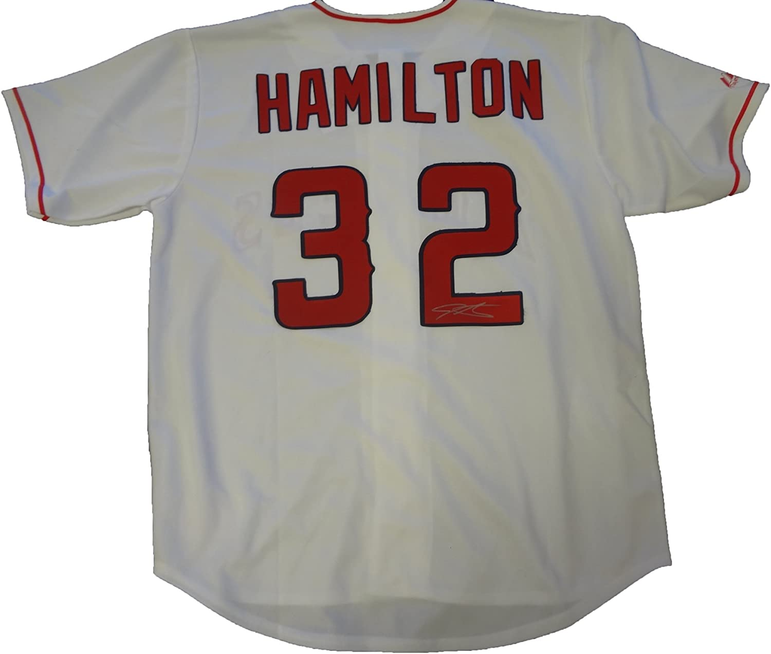 B00BWSMSK4 Josh Hamilton Autographed Los Angeles Angels of Anaheim Jersey W/PROOF, Picture of Josh Signing For Us, Los Angeles Angels of Anaheim, Anaheim Angels, Texas Rangers, World Series, Tampa Bay Devil Rays 71TXVEwPs0L.SL1500_