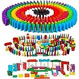 AISFA 積み木 ドミノ倒し 知育玩具 360個 ギミック 仕掛け24種セット 木製 カラフル こども 誕生日 プレゼント 並べる用道具と収納袋 セット