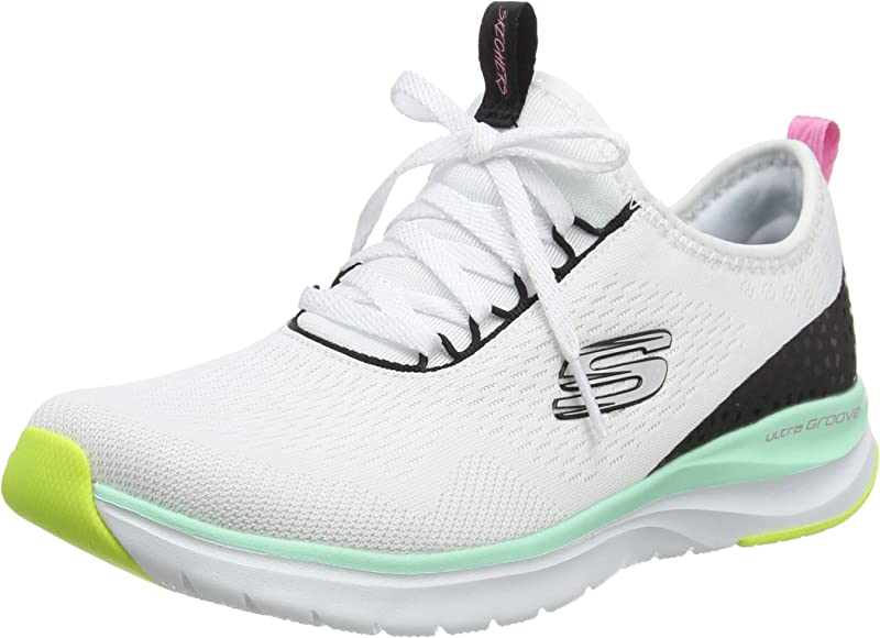 Skechers Ultra Groove Quick Advantage, Zapatillas para Mujer, Blanco Malla Multi Trim Wmlt, 36.5 EU: Amazon.es: Zapatos y complementos
