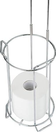 JackCubeDesign JACKCUBE Design Toilet Tissue Paper Holder Stand with Bamboo Shelf Bamboo Shelf : MK466A