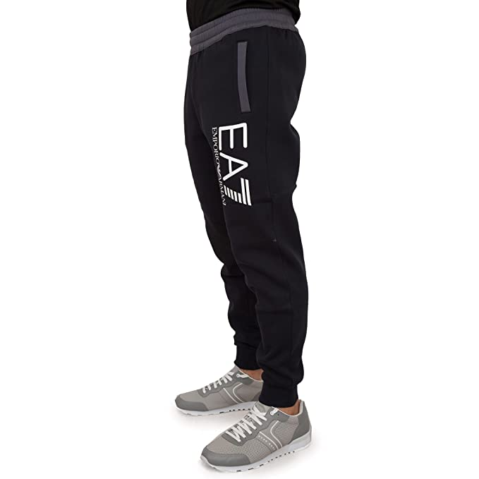 official photos c2e90 3afbf Emporio Armani EA7 Pantaloni Tuta Uomo Nero: Amazon.it ...