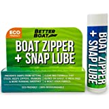 Zipper Lubricant and Zip Wax Marine Grade Lube Stick Apply with Ease Boat, Canvas, Bimini Snap, Coolers, Wetsuit and Drysuit