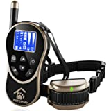 PETDIARY Remote Dog Static Shock Training Collar 1970Ft Long Range with Beep/Light/Vibration/Static Shock, Waterproof, Rechargeable, Dogs 10Lbs to 100Lbs with Neck Sizes of 8.5-25 inches