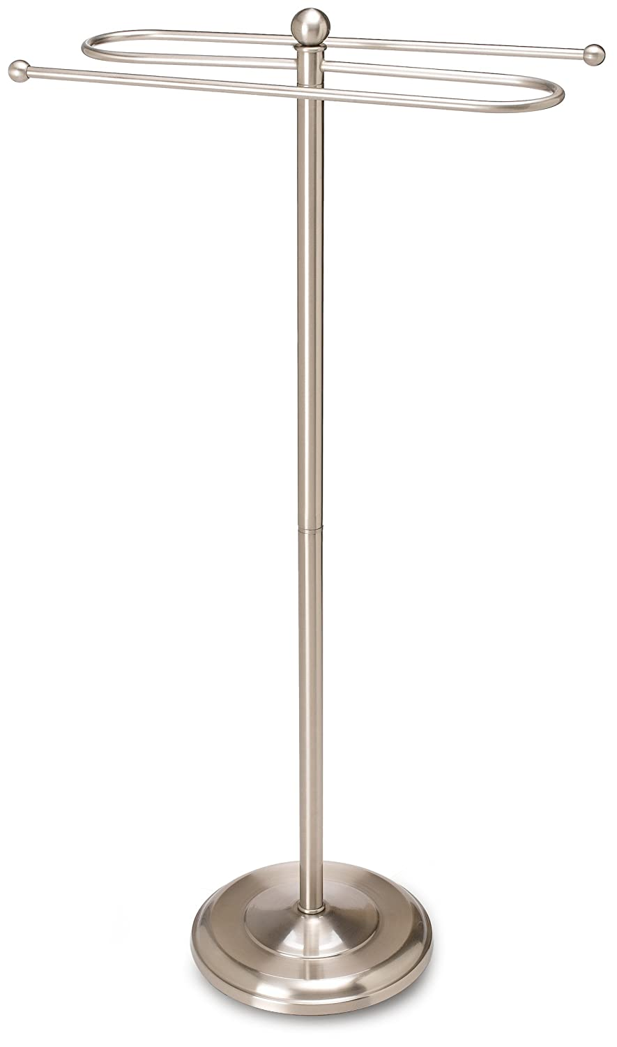 Taymor Floor Standing Towel Valet, Satin Nickel