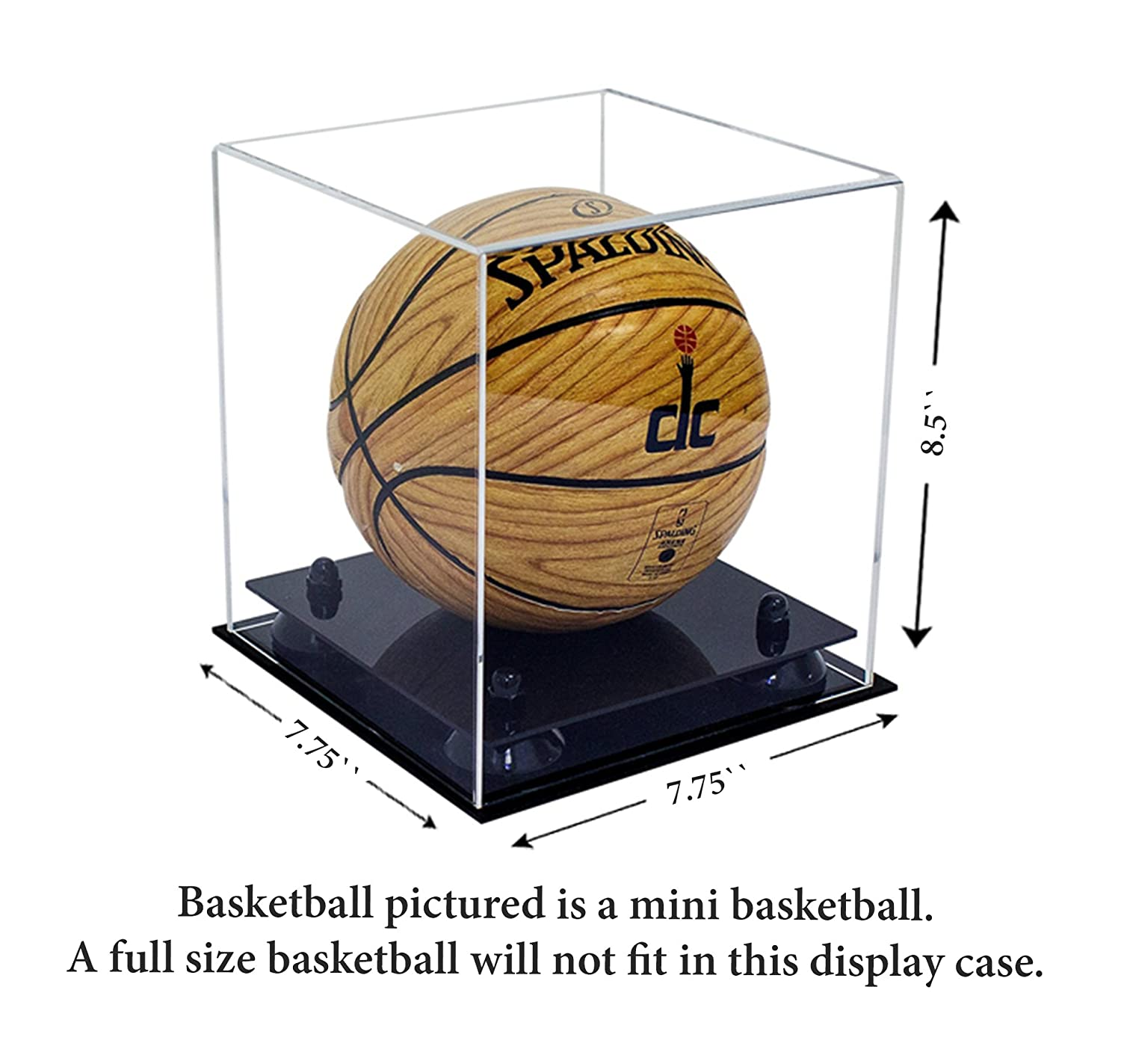 ce33352f8d7 Amazon.com   Deluxe Clear Acrylic Mini - Miniature (not Full Size)  Basketball Display Case with Black Risers (A015-BR)   Sports   Outdoors