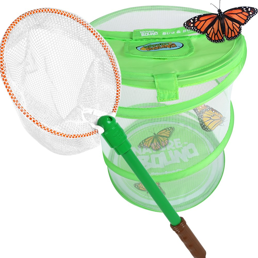 Nature Bound Bug Net with Live Bug and Butterfly Village Habitat Combo Set by Nature Bound