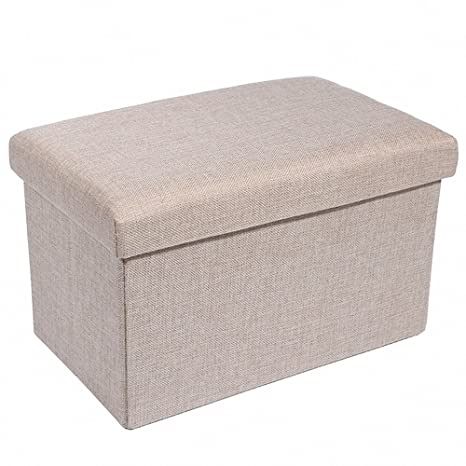 Genial Epeanhome Storage Ottoman,Folding Storage Bench, Linen Like Fabric And  Foldable Stool Thickening
