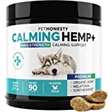 PetHonesty Advanced Calming Hemp Treats for Dogs - All-Natural Soothing Snacks with Hemp + Valerian Root, Stress & Dog Anxiet