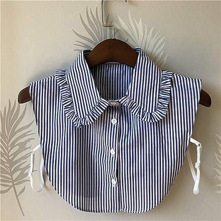 Hunpta@ Collar Falso, 1 Paquete de Blusa Elegante con Botones ...