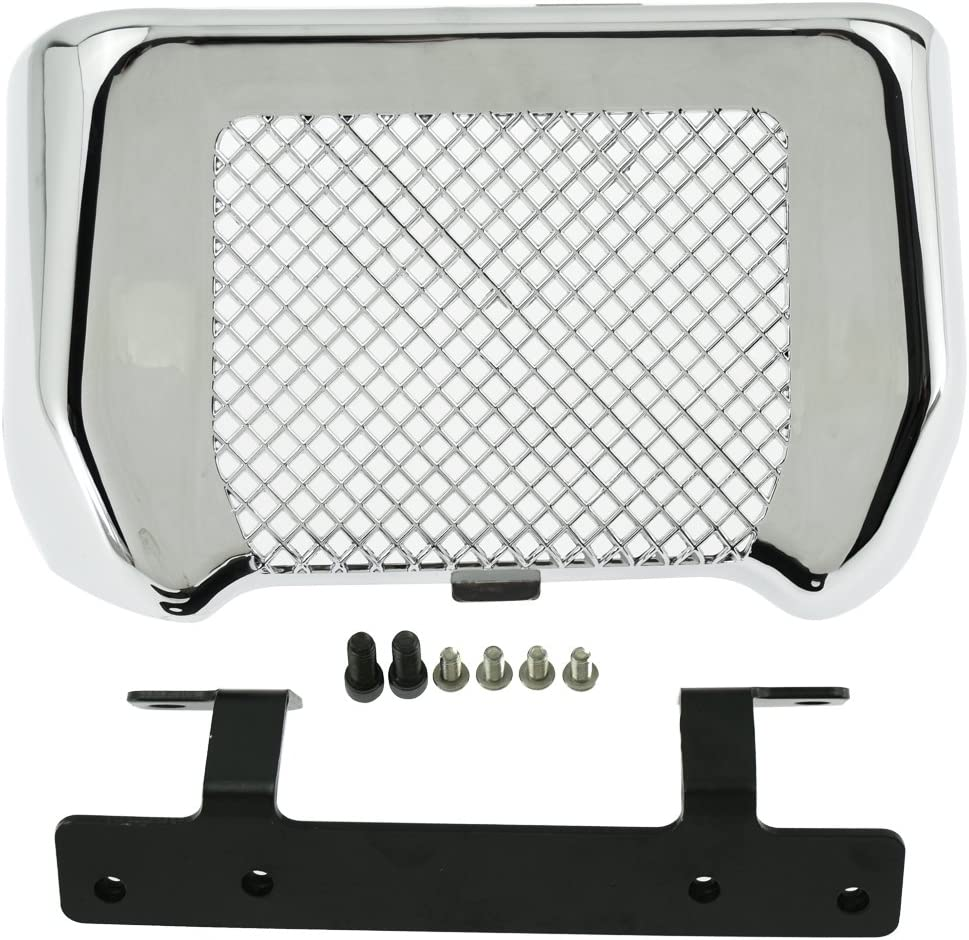 YHMTIVTU Motorcycle Oil Cooler Cover Case with Bracket Radiator Guard Fit for Harley Freewheeler FLRT Touring Road King Road Street Glide 2017-2020 Chrome