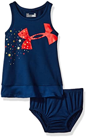 0d1c61cf6 Amazon.com: Under Armour Baby Girls' Star Spangled Dress Set, 2 Piece:  Clothing