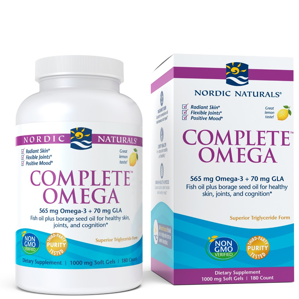Nordic Naturals - Complete Omega, Supports Healthy Skin, Joints, and Cognition, 180 Soft Gels, 1000 mg