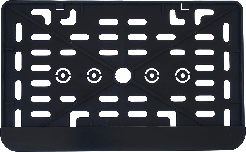 1x Kennzeichenhalter Nummernschildhalter Made In Eu 240 X 130 Mm 24 X 13 Cm Material Bruchfester Abs Kunststoff Schwarz Unlackiert 240 Auto
