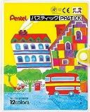 ぺんてる クレヨン色えんぴつ パスティック GC1-12D 12色