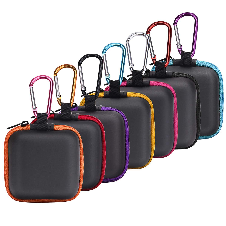 SUNMNS イヤホンケース ヘッドホン収納バッグ ワイヤレスBeats Boseイヤホン Airpods Bluetoothスポーツヘッドホン対応 7個   B07QQ3VKBP