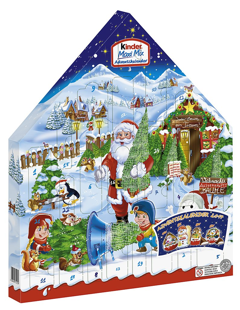 Kinder Maxi Mix Advent Calendar 351g Ferrero UK XGB622678