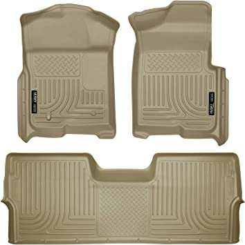 Amazon Com Husky Liners Fits 2009 14 Ford F 150 Supercrew Without Manual Transfer Case Shifter Weatherbeater Front 2nd Seat Floor Mats Footwell Coverage Automotive