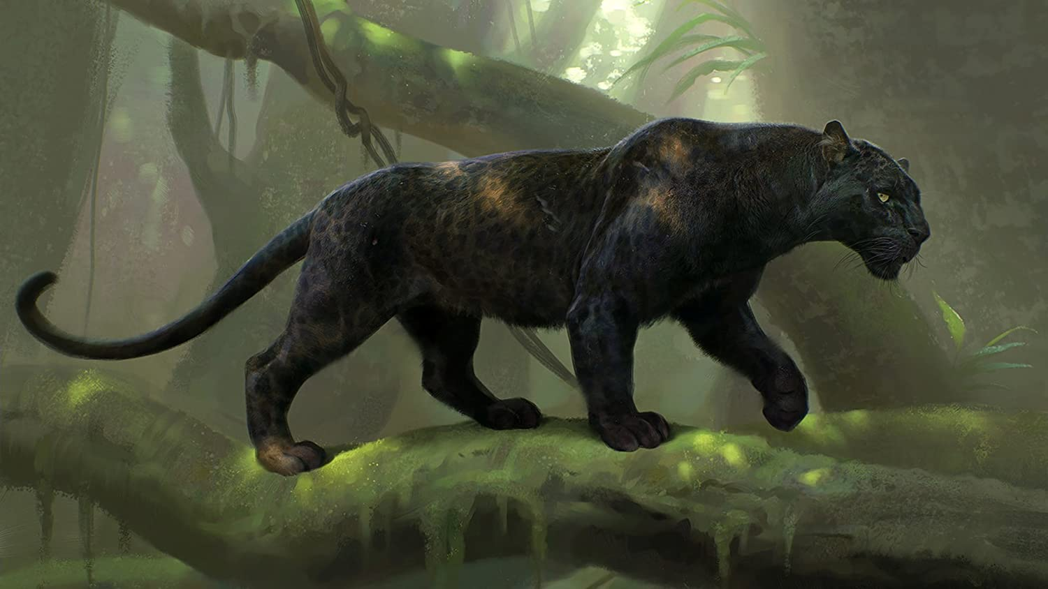 FREE P+P CHOOSE YOUR SIZE The Jungle Book Poster BAGHEERA Panther Movie 2016
