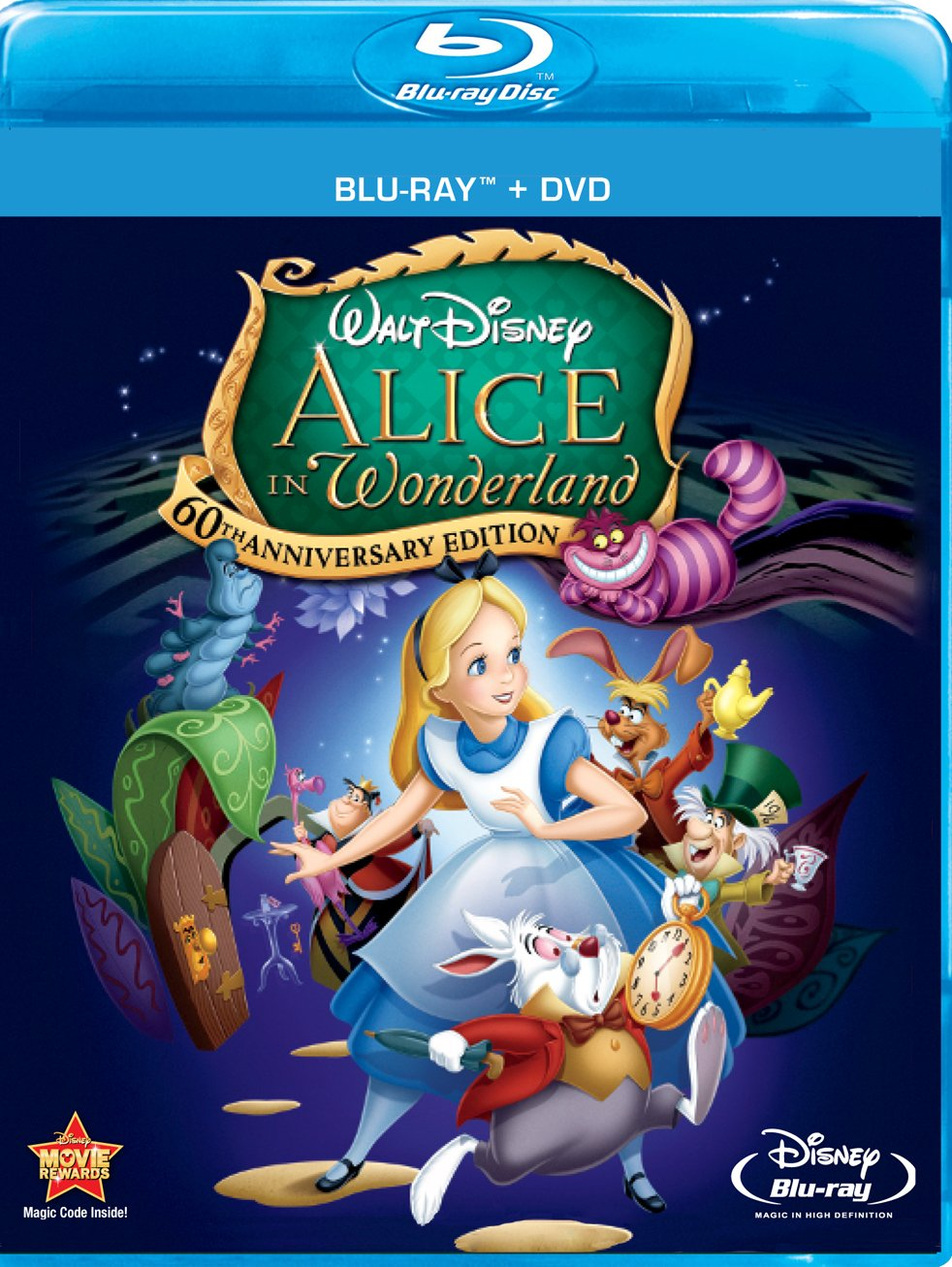 Blu-ray : Alice in Wonderland (1951) (With DVD, Anniversary Edition, O-Card Packaging, Widescreen, )
