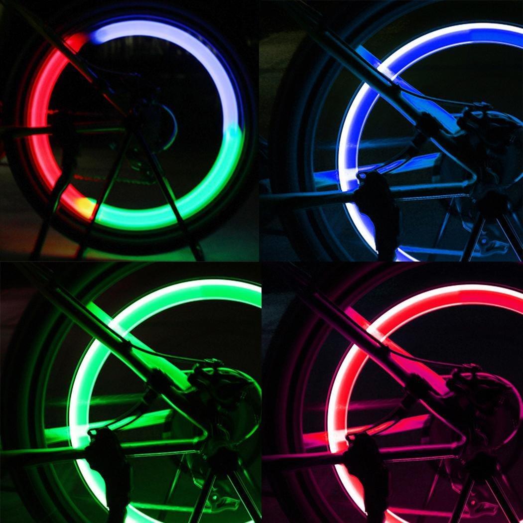 Kloius Luz de Rueda de Bicicleta LED Luz del Neum/ático de la Bicicleta L/ámpara de Destello