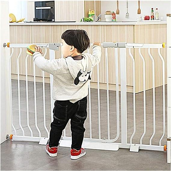Barreras de puerta Puertas De Seguridad For Bebés Extensibles Barandilla De Escalera Valla De Chimenea Barandilla Protectora Aislamiento De Perro Mascota Instalación De Barandilla Montaje A Presión: Amazon.es: Hogar