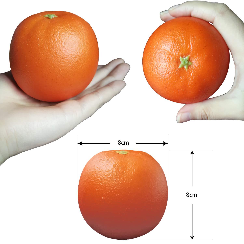 Aomeiter 6pcs Fake Orange Artificial Fruit Faux Orange for Home Shop Office Hotel Supermarket Props Or Decoration by JZKJ