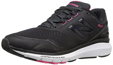 41eaa8551445 New Balance Women s WW1865 Walking Shoe Black White 5.5 2A US