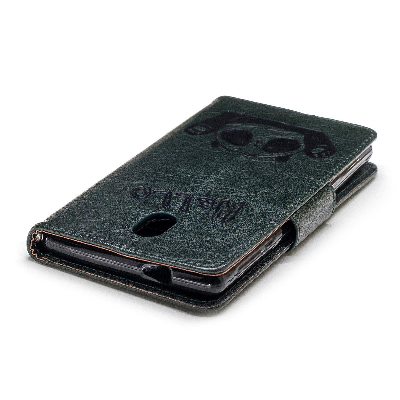 sinogoods para Nokia 3 Funda Marr/ón Cuero De La PU Magn/ético Capirotazo Billetera Apoyo Bumper Protector Cover Funda Carcasa Case